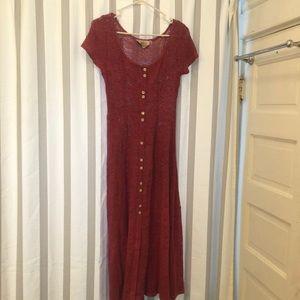 Amazing pink vintage lace dress pretty buttons
